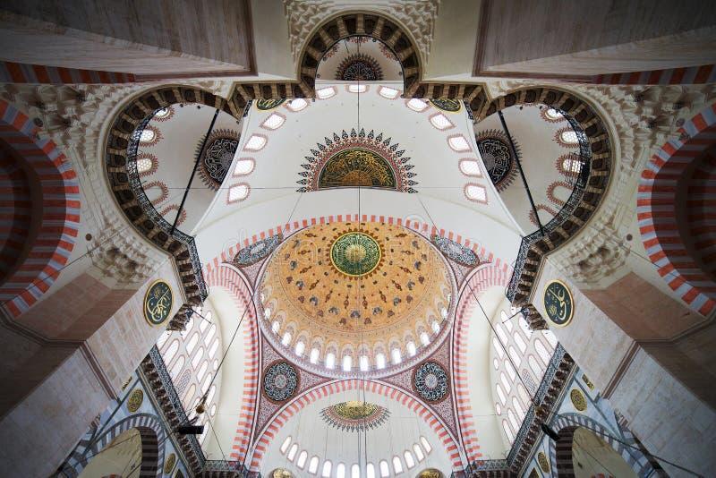 Suleymaniye Mosque Ceiling stock photo
