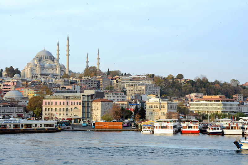 Suleymaniye Mosque Golden Horn royalty free stock image