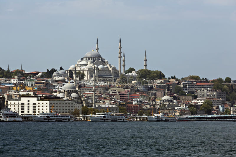 Download Suleymaniye Mosque From Goldenhorn Stock Image - Image of mosque, buildings: 26636337