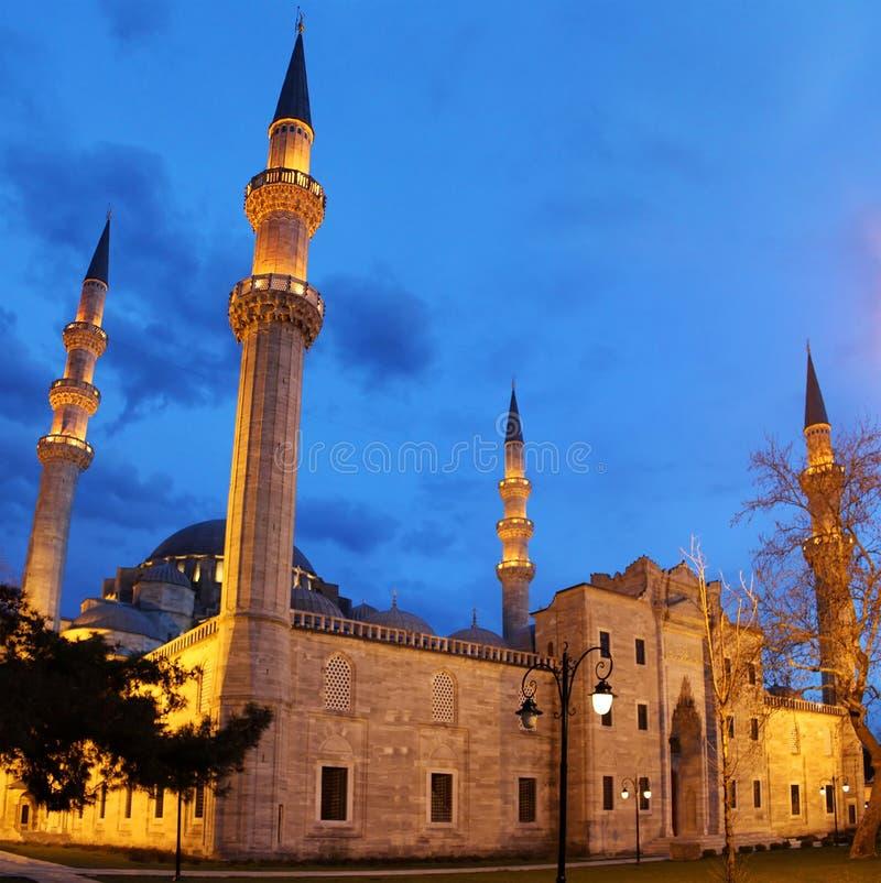 Suleymaniye Mosque night view royalty free stock photography