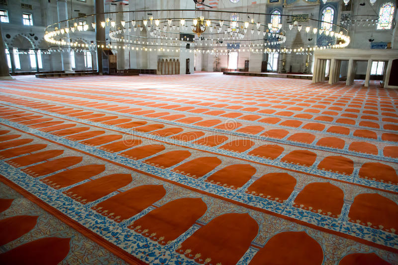 Suleymaniye Mosque Prayer Floor Editorial Stock Photo