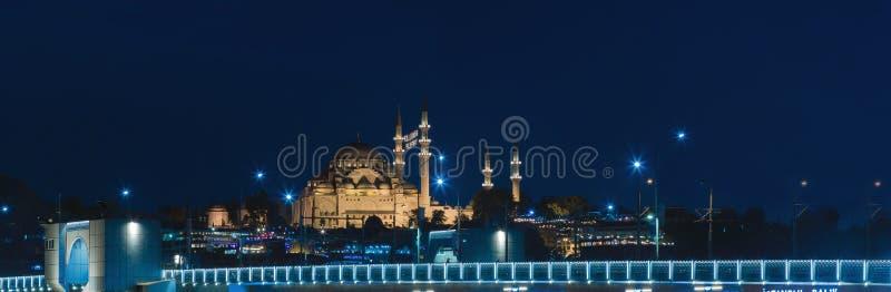 Suleymaniyemoskee en de Brug royalty-vrije stock foto
