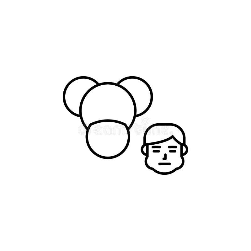 Sulfiet, allergisch pictogram Element van problemen met allergieënpictogram Dun lijnpictogram voor websiteontwerp en ontwikkeling royalty-vrije illustratie