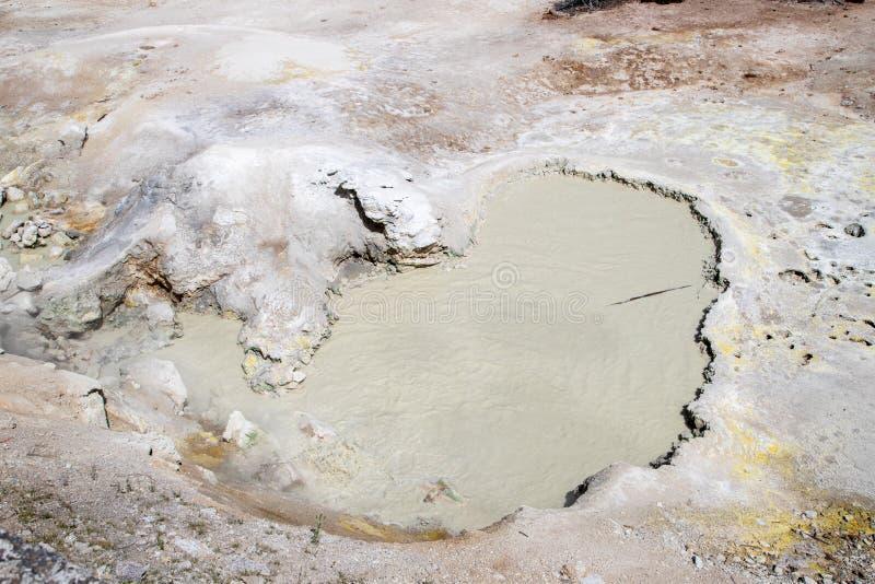 Sulfur Cauldron na Zona de Vulcão de Lama do Parque Nacional de Yellowstone fotos de stock