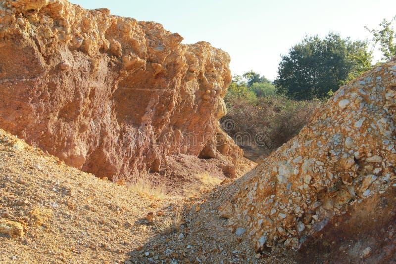 The sulfur of Pomezia near Rome in Italy royalty free stock image