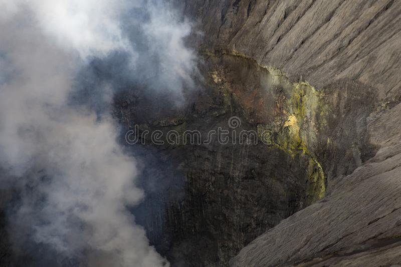 Sulfur volcano royalty free stock photography