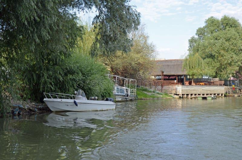 Sulina Danube delty hotel obraz royalty free