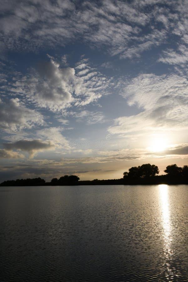 Sulina, il posto dove il Danubio va dentro a Mar Nero fotografia stock