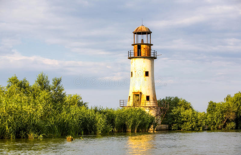 Sulina Lighthouse In The Danube Delta stock images