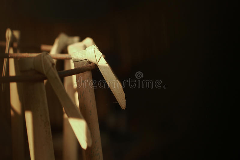 Suling,从印度尼西亚的一个传统乐器 免版税图库摄影