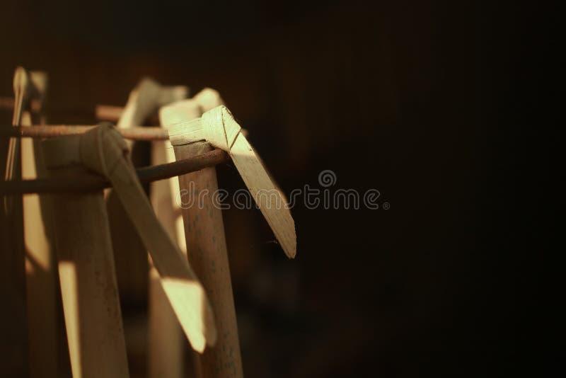 Suling, un instrument de musique traditionnel d'Indonésie photographie stock libre de droits
