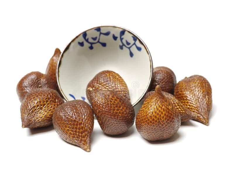 Sulis изолировало Salak или плод змейки стоковое изображение rf