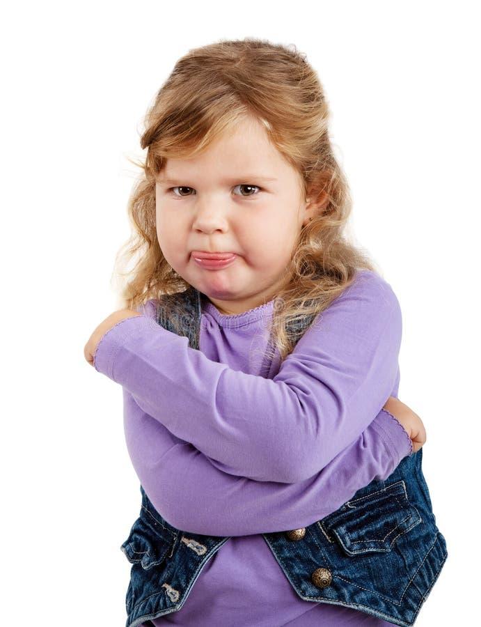 Sulky μικρό κορίτσι στοκ φωτογραφίες με δικαίωμα ελεύθερης χρήσης