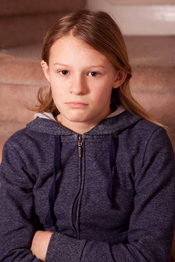Sulky девушка стоковое изображение