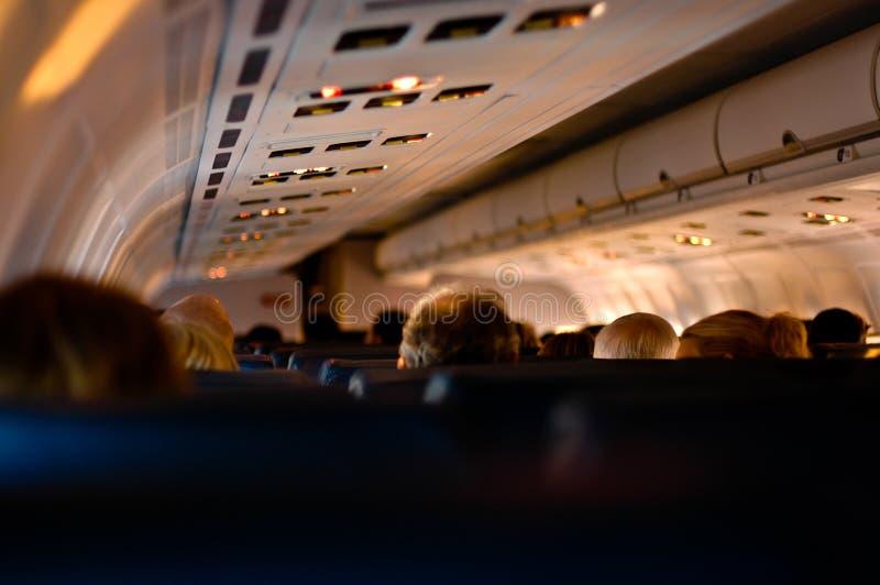 Sull'aereo fotografia stock libera da diritti