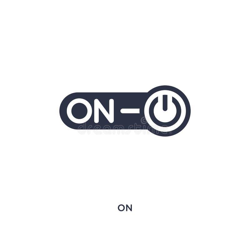 sull'icona su fondo bianco Illustrazione semplice dell'elemento dal concetto commercializzante illustrazione vettoriale