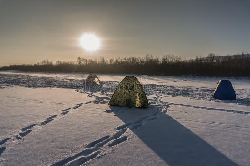 Sull'inverno fishing2 immagine stock libera da diritti