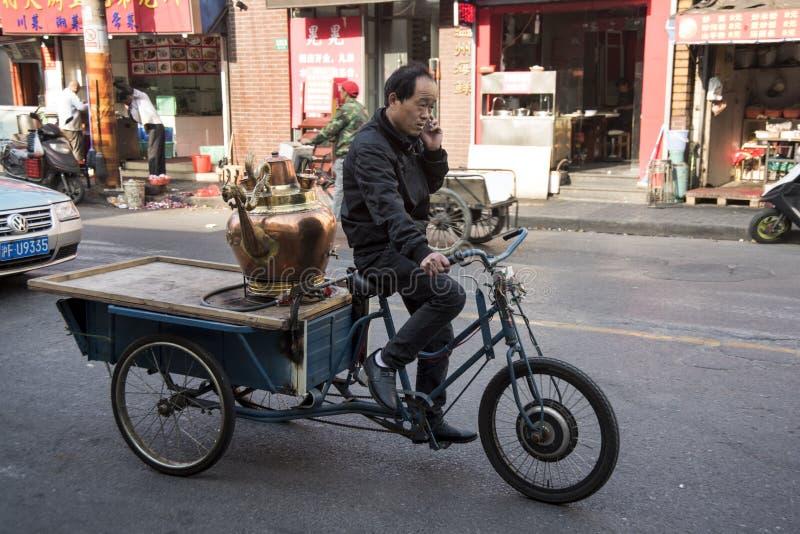 Sulla consegna di tempo, Shanghai fotografia stock libera da diritti