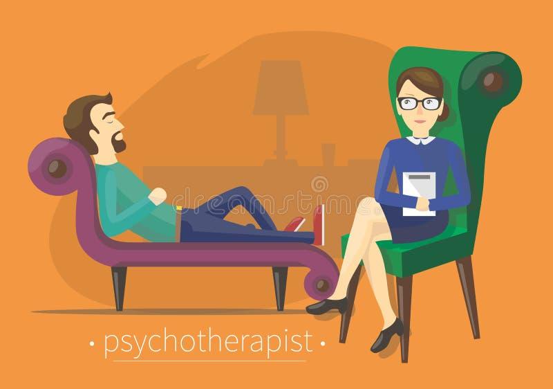Sulla cura dello psicoterapeuta illustrazione vettoriale