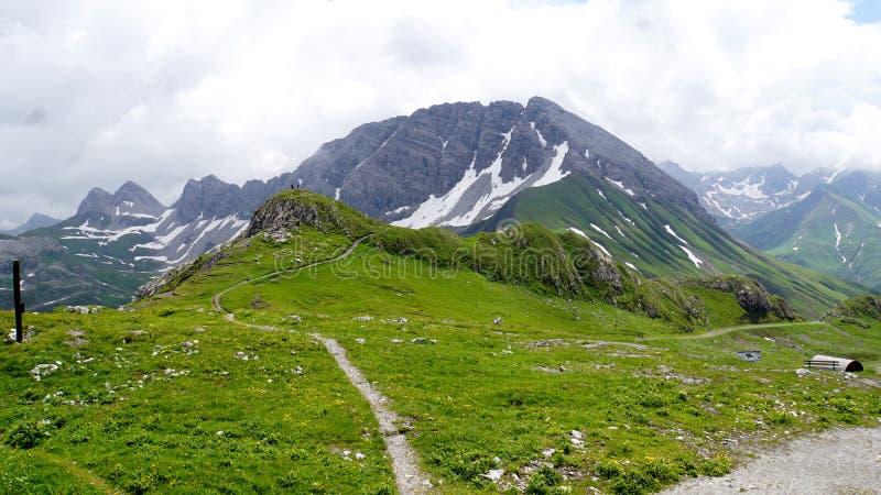 Sulla montagna Ruefikopf in Vorarlberg immagini stock
