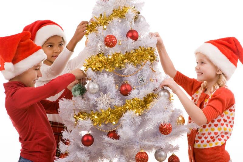 Sulla notte di Natale fotografia stock libera da diritti