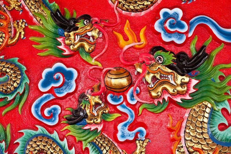Sulla parete in tempiale cinese fotografia stock libera da diritti