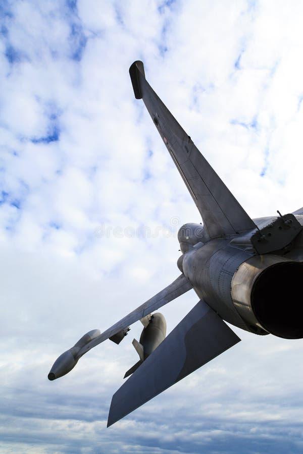 Sulla pattuglia - aereo da caccia in a mezz'aria immagini stock libere da diritti