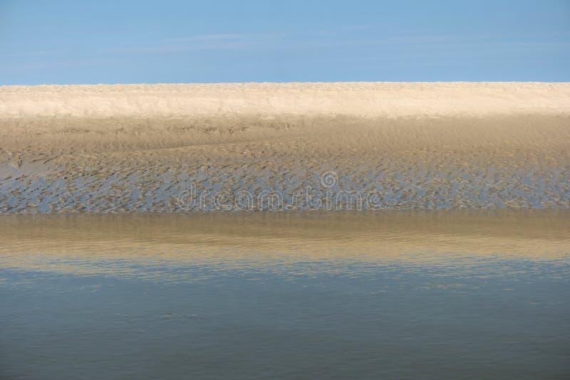 Sulla spiaggia della st Peter-Ording fotografia stock