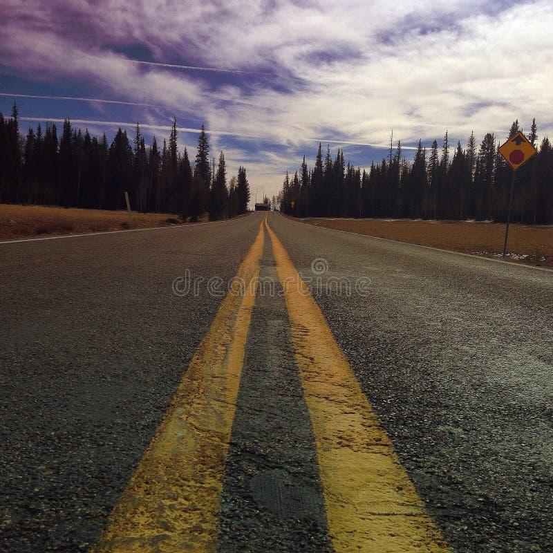 Sulla strada pinta II immagine stock