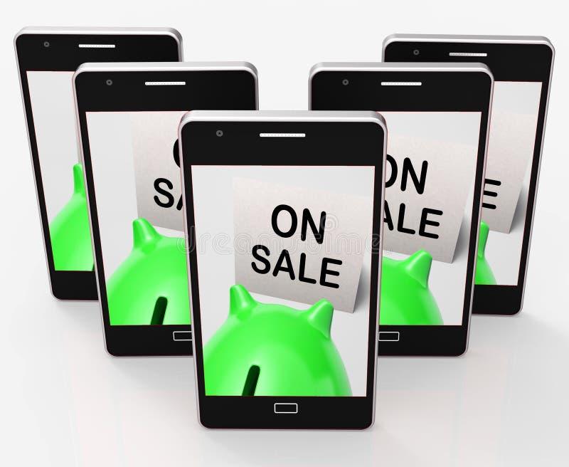 Sulla vendita il porcellino salvadanaio significa il promo ed il prezzo ridotto speciali illustrazione vettoriale