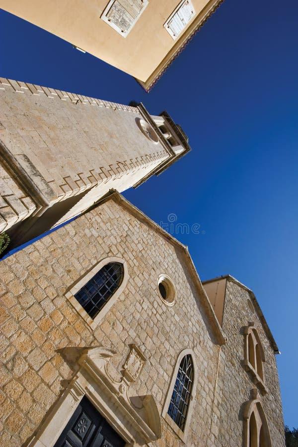 Download Sulla via di vecchia città immagine stock. Immagine di massoneria - 7302921