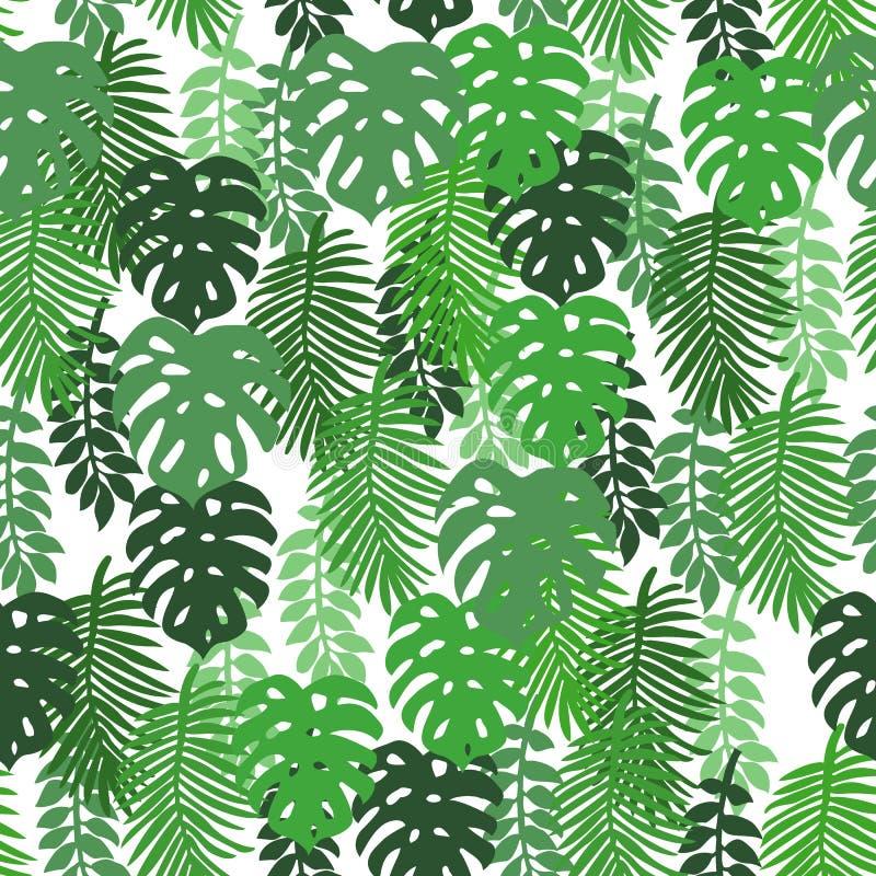 Sulle foglie tropicali di un fondo bianco immagine stock