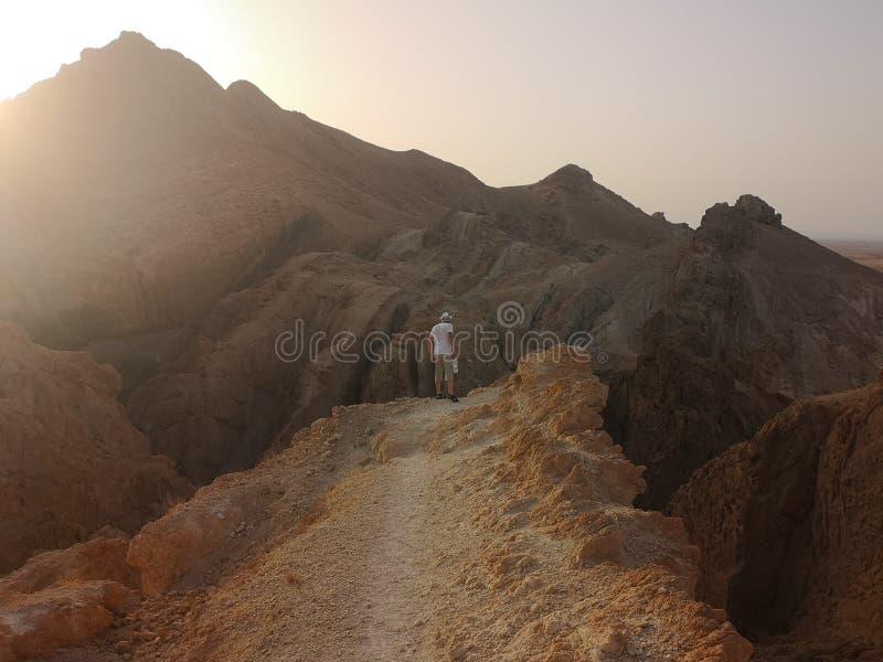 Sulle montagne della Tunisia fotografia stock