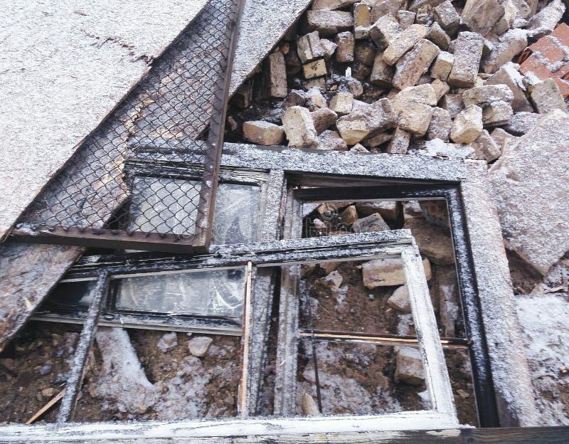 Sulle rovine immagine stock