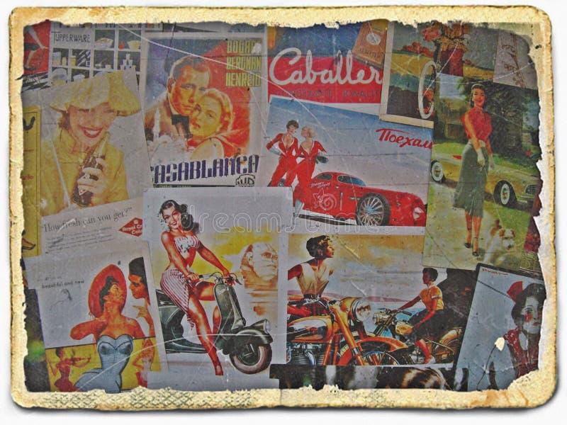 Sulle vie delle cartoline di VilniusRetro immagini stock