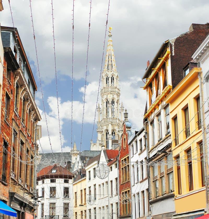Sulle vie di Bruxelles. immagini stock