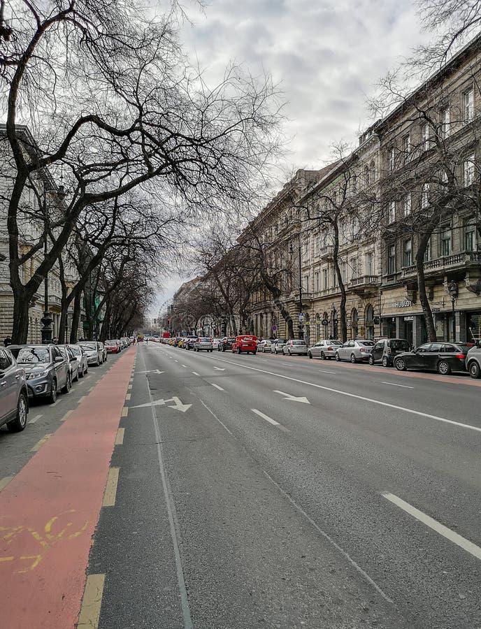 Sulle vie di Budapest fotografie stock libere da diritti