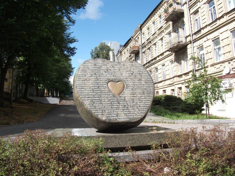 Sulle vie di Vilnius immagini stock