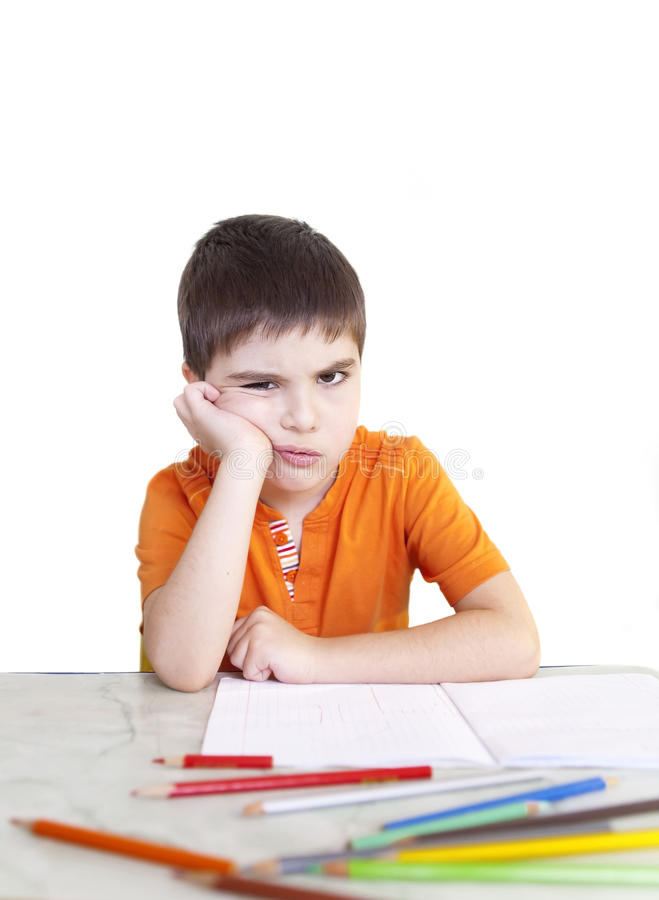 Sullen Boy Royalty Free Stock Photo