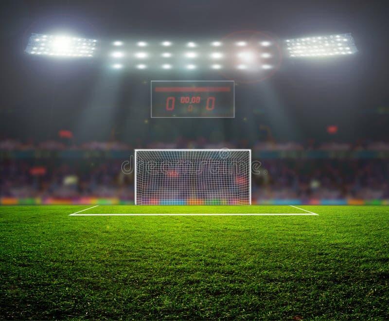 Sullo stadio. immagine stock