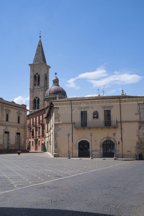 Sulmona Abruzzo, Ιταλία, ιστορικά κτήρια στοκ εικόνα με δικαίωμα ελεύθερης χρήσης