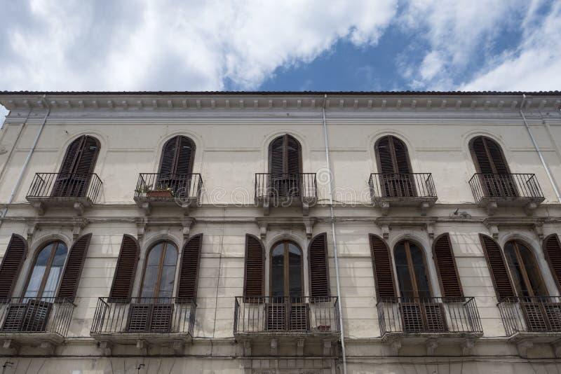 Sulmona Abruzzo, Ιταλία, ιστορικό παλάτι στοκ φωτογραφία με δικαίωμα ελεύθερης χρήσης