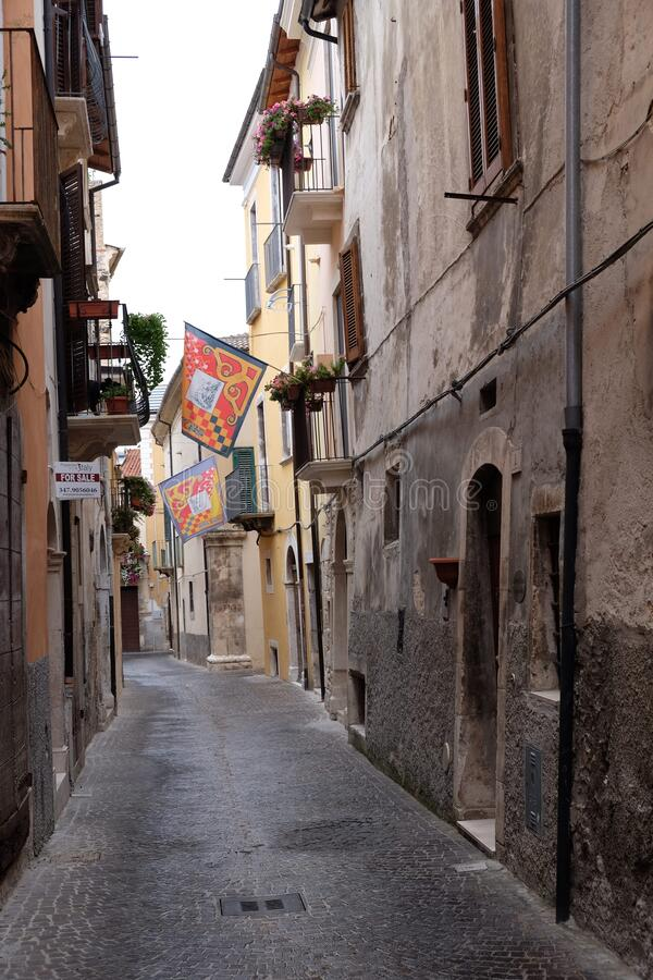 Sulmona historical center. Travel view of Abruzzo featuring Sulmona historical center. The image location is Italy in Europe stock photos