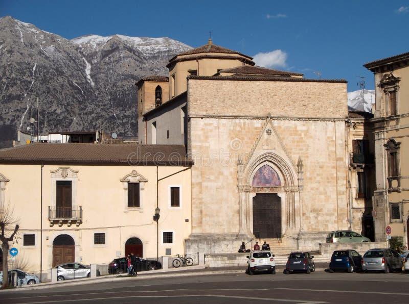 Sulmona - iglesia de San Filippo Neri foto de archivo