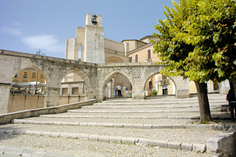 Sulmona Italy stock image