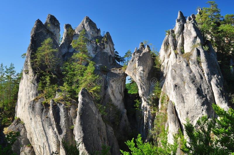Sulov rocks stock image