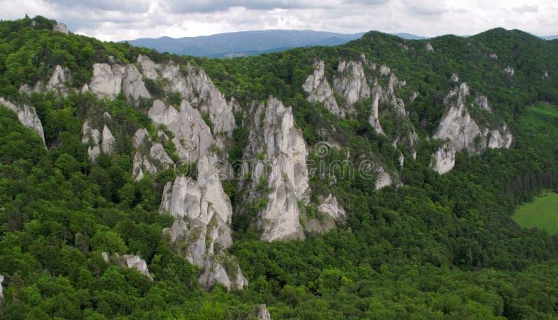 Sulovske skaly in Slowakei stockbild