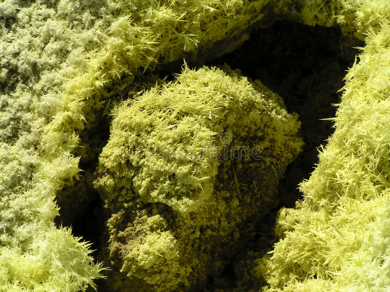 Download Sulphur Crystals Around The Volcanic Hole Stock Image - Image: 7178705