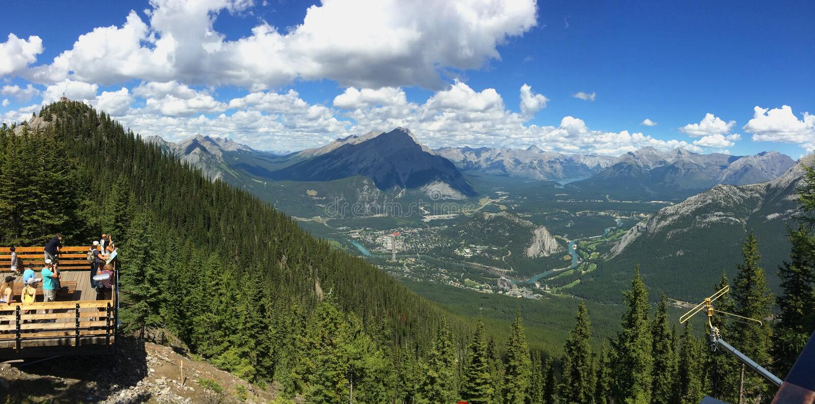 Sulphur Mountain in Banff National Park in the Canadian Rocky Mountains royalty free stock photo