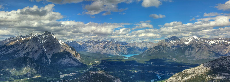 Sulphur Mountain - Banff Panorama stock image